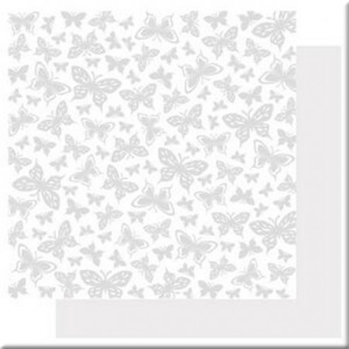 Papel Scrapbooking con Glitter Butterfly Kisses