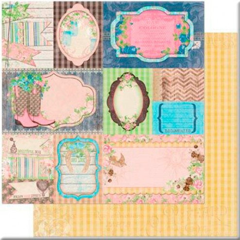 Papel Scrapbooking - Flea Market Finds - BoBunny
