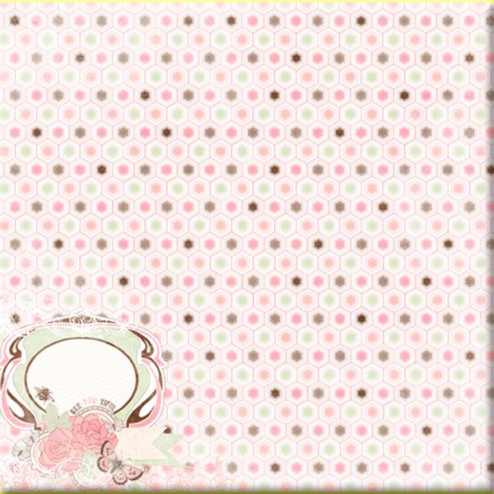 Papel Scrapbooking Time Washed - Primrose BoBunny