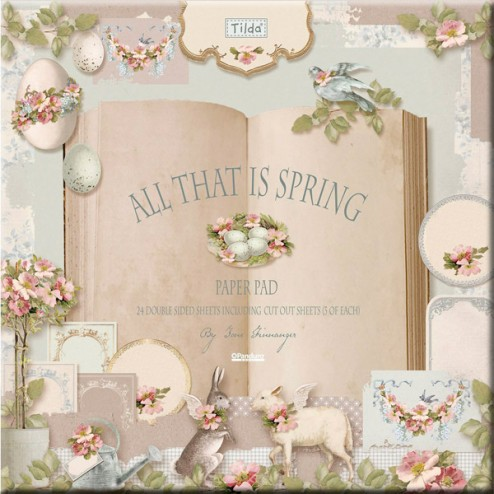 Papeles para Scrapbooking All That is Spring - Tilda (30,5x30,5)