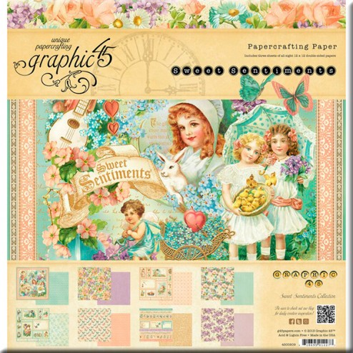 Papeles Scrapbooking - Sweet Sentiments (30,5x30,5)