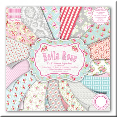 Papeles Scrapbooking - Bella Rose (20x20)