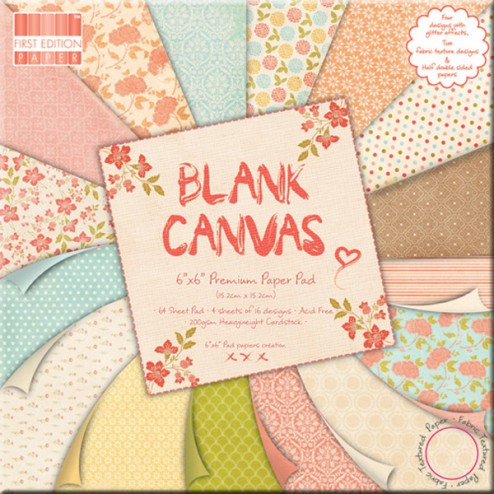 Papeles Scrapbooking - Blank Canvas (15x15)