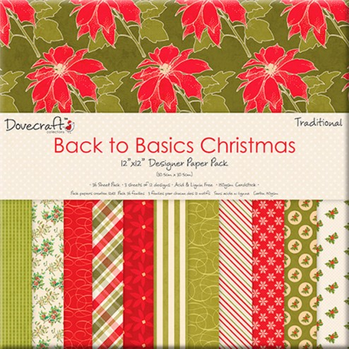 Papeles Scrapbooking - Christmas Traditional (30x30)