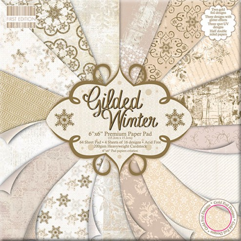 Papeles Scrapbooking - Gilded Winter (15x15)
