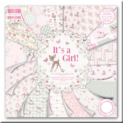 Papeles Scrapbooking - It´s a Girl (30,5x30,5)