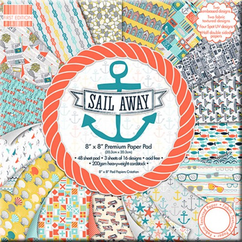 Papeles Scrapbooking - Sail Away (20 x 20)