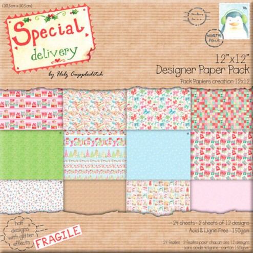 Papeles Scrapbooking - Special Delivery (30x30)