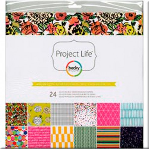 Papeles Scrapbooking Sunshine Edition (30,2x30,5) - Project Life