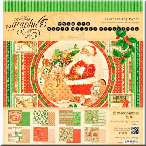Papeles Scrapbooking - Twas the Night Before Christmas (30x30)