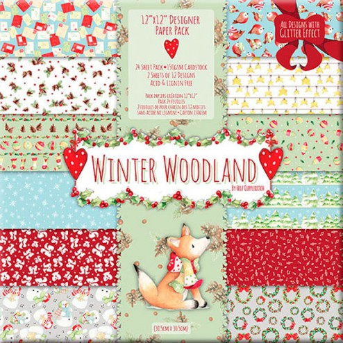 Papeles Scrapbooking - Winter Woodland (30x30)