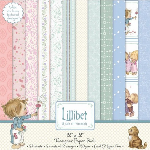 Papeles Scrapbooking - Lillibet - A Tale of Friendship - 20x20