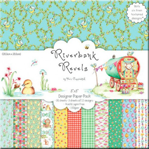 Conjunto de Papeles Scrapbooking - Riverbank Revels (20x20)