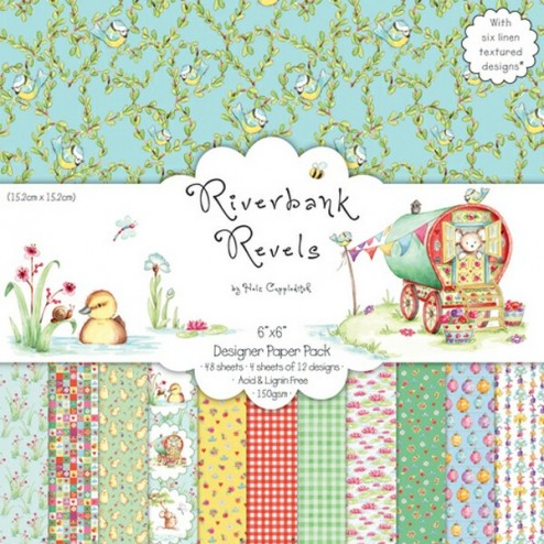 Papeles Scrapbooking - Riverbank Revels - 30x30