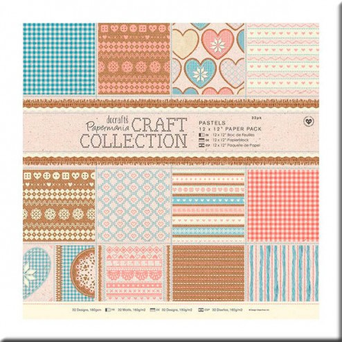 Papeles Scrapbooking - Craft Collections - Pastels (30x30)