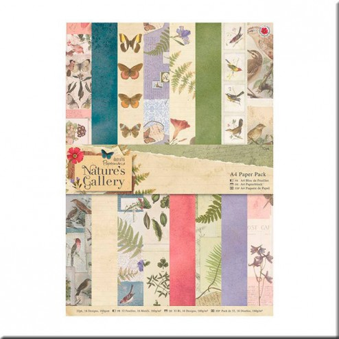 Papeles Scrapbooking Nature's Gallery (A4)