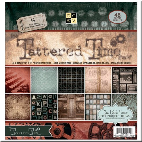 Papeles Scrapbooking Tattered Time (30x30)