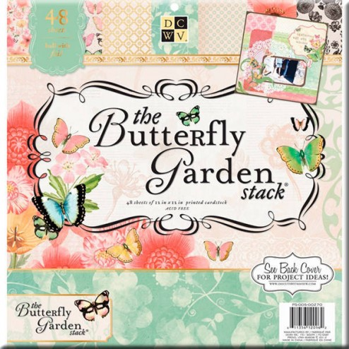 Papeles Scrapbooking - The Butterfly Garden (30 x 30)
