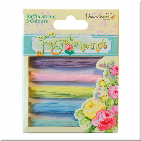 Rafia colores - Dovecraft Forget Me Not