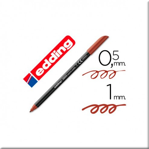 Rotulador Marrón - Edding (0,5 - 1 mm)