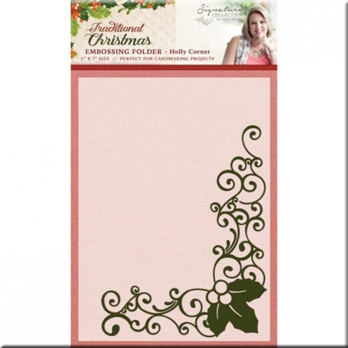 Carpeta Embossing Holly Corner Traditional Christmas