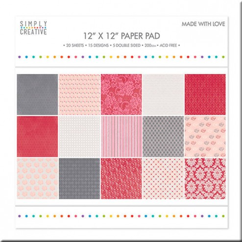 Papeles Scrapbooking Made with Love (30x30)