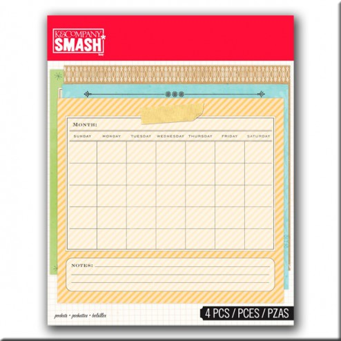 Scrapbooking - Bolsillos Calendario SMASH