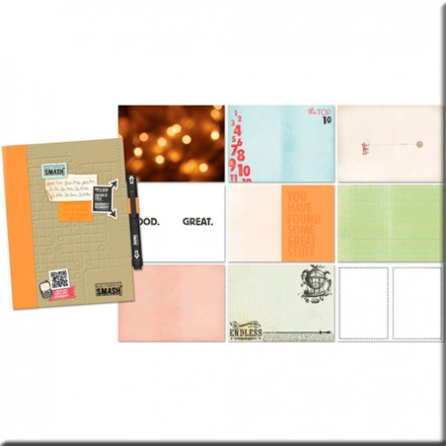 Scrapbooking - Cuaderno SMASH Simple Naranja