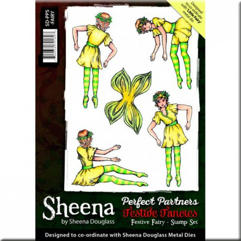 Sello de Caucho Festive Fairy - Sheena Douglass