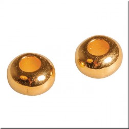 Bola de metal color oro (26 mm) 6 uds