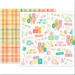 Papel Scrap Birthday Bash 01 Pink Paislee (30x30)