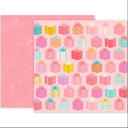 Papel Scrap Birthday Bash 12 Pink Paislee (30x30)