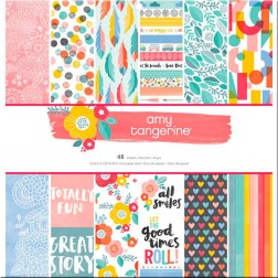 Papeles Scrap Oh Happy Life Amy Tangerine (30x30)