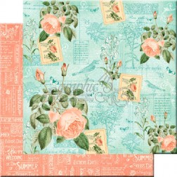 Papel Scrapbooking Junio Flourish