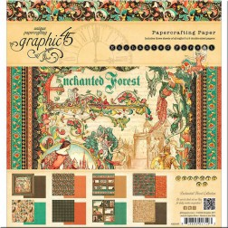 Papeles Scrapbooking Enchanted Forest (20x20)
