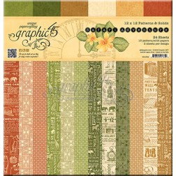 Papeles Scrap Estampados Safari Adventure (30x30)