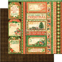 Papel Scrapbooking Season's Greetings