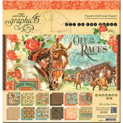 Papeles Scrapbooking Off to the Races (30x30)