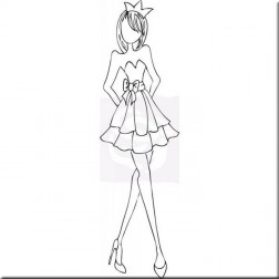 Sello Strapless Dress Prima Doll