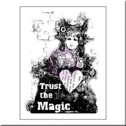 Sello de Madera Trust the Magic - Finnabair