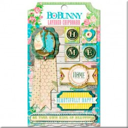 Adhesivos Prairie Chic Layered Chipboard - BoBunny