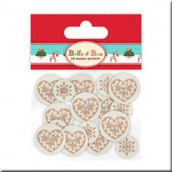 Botones de Madera - Belle and Boo Christmas