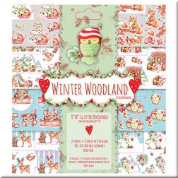 Block papeles precortados - Winter Woodland