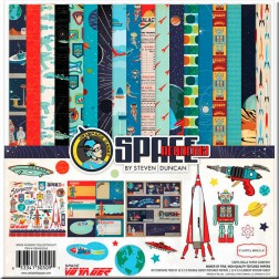 Kit Papeles Scrap Space Academy (30x30)