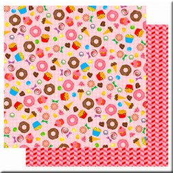 Papel Scrapbooking Glitter - Candy Shop (30 x 30)