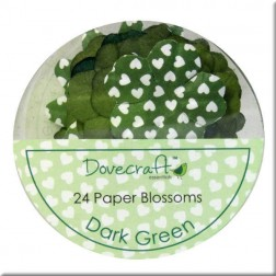 Flores de papel Dark Green - Dovecraft