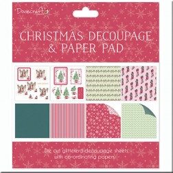 Papeles Decoupage Glitter Christmas Scenes (20x20)
