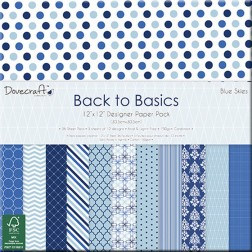 Papeles Scrapbooking Back to Basics Blue Skies (30x30)