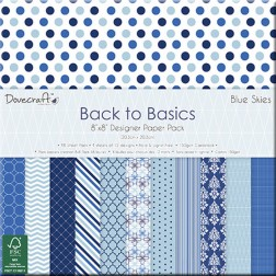 Papeles Scrapbooking Back to Basics Blue Skies (20x20)