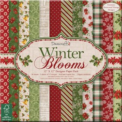 Papeles Scrapbooking Winter Blooms (30 x 30)